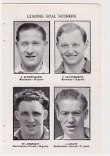 Player Pic from 1951-52 FOOTBALL Annual - SCOTLAND BARNSLEY BLACKPOOL FOREST ROT