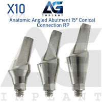 10 Angled Abutment 15° Conical Connection RP Titanium Abutment Dental Implant