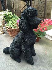 Poodle black Resin Statue life like ! Black poodle sitting