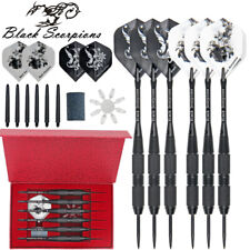 6PCS/Set Professional Tungsten Steel Tip Darts, Shaft Flights Barrel Metal Dart