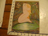 L.H. HART art: trippy 2 paged marked naked girl lots of lines8 x 10 1/2 SUSANNAH