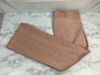 New York And Company Bootcut Pants Womens 12 Peach Pink Flat Front Flare D1