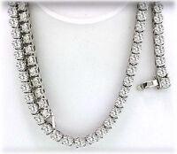 "18 carat Round Diamond Tennis 14k White Gold Necklace G  SI1  0.15 ct. each 17"""