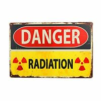 "Danger Sign-Danger Radiation Allied Military Metal Tin Sign 8"" x 12"""