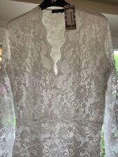 White boohoo lace bodysuit Plus Size 18- Brand New