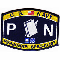 """US Navy Personnel Specialist PN Rating Patch 4 1/2"""" x 3 1/4"""" Licensed"""