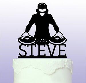 Personalised DJ Acrylic Cake Topper - Club - Mixer