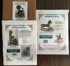 Deluxe Plans Children's Glider Chair Pattern G-103 & Hardware + Rocking Horse