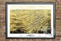 Old Map of Pleasant Hill, MO from 1869 - Vintage Missouri Art, Historic Decor