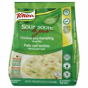 Knorr Professional Soup du Jour Chicken and Dumpling Soup Mix No added MSG 0g...