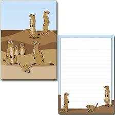 witzige Erdmännchen Schreibblock A5 50 Blatt Briefpapier Notizblock Block Tiere