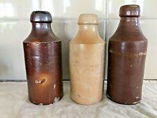 Vintage Antique Stoneware Salt Glazed Ginger Beer Bottles
