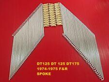 YAMAHA DT125 Front /& Rear spokes complete set BRAND NEW  #BI3053#