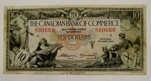 1935 Canadian Bank of Commerce $10 Note