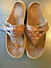 Cushe Footwear  Slide Strap Stressed Leather Sandals Brown - MEN'S 13