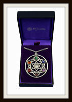 CHAKRA STAR PENDANT NECKLACE ~ PEWTER & SEMI PRECIOUS STONES ~ FROM ST. JUSTIN