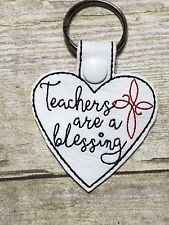 Teachers Are A Blessing school Heart key chain FREE SHIPPING
