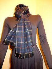 NEW WITH TAG ! Unisex  Authentic GUCCI  Navy Blue checkers Scarf .