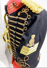 "6pcs Men's Military Hussar Black/Red OfficerJacket Outfit S/40"",42""/M & 44""/L"