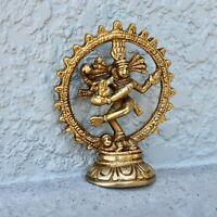 Vintage Dancing Nataraja Lord Shiva India Patina ancient idol mid century statue