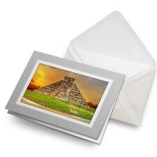 Greetings Card (Grey) - Kukulkan Pyramid Chichen Itza Mexico  #16209
