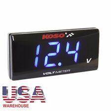 KOSO LED Display Super Slim Voltmeter Volt Meter 8 to 18V Blue Back Light To USA
