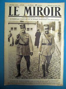JOURNAL DE LA GUERRE DE 1914/1918 LE MIROIR DU 20 AVRIL 1919 Numéros 282