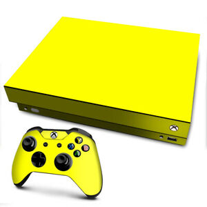 Xbox One X Console Skins Decal Wrap ONLY Bright Yellow