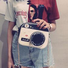 Women's Creative Camera Shape Handbag Chain Shoulder Messenger Bag Satchel Purse