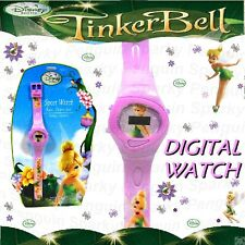 100% Auténtico Disney Fairies Tinker Bell Reloj Digital Rosa CHILDS CHICAS Lcd