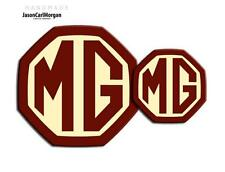 MG ZR LE500 MK2 Front & Rear Insert Badge Logo Set 59mm/95mm OEM Burgundy/Crm