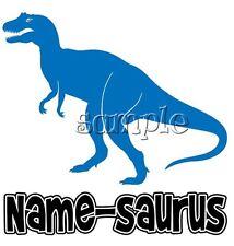 IRON on TRANSFER Dinosaur #1 personalised any name u want eg Max-saurus 12x12cm