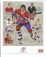 RARE 25 X  2009 CANADIENS CENTENNIAL SERGE SAVARD 8 1/2 BY 11 PHOTO