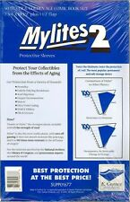 50 MYLITES 2 SILVER & GOLDEN AGE SIZE MYLAR COMIC BAGS STORAGE SLEEVES E. GERBER