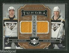 DAVID LEGWAND JASON ARNOTT 07-08 ARTIFACTS TUNDRA TANDEMS DUAL JERSEY 106/125