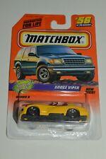 1997 Matchbox DODGE VIPER #56 Super Cars Yellow 1:64 Classic Diecast