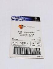 used ticket FC BASEL - FC LIVERPOOL 01.10.2014