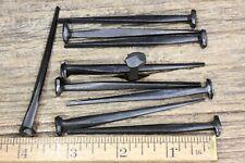 "3"" Rose head 10 nails Decorative wrought iron square vintage antique LOOK 10d"