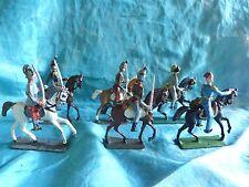 Lot de 6 cavaliers divers première guerre mondiale demi ronde-bosse.