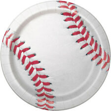 BASEBALL SMALL PAPER PLATES (8) ~ Sports Birthday Party Supplies Cake Dessert