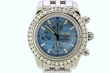 BREITLING WINDRIDER EVOLUTION 7 CT DIAMONDS BLUE  MOP DIAMOND DIAL WATCH