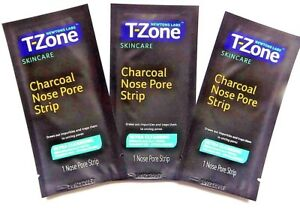 T-Zone Charcoal Clear Out Nose Pore Cleansing Blackheads & Spots 3 Strips UK