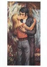 Painting author Postcard Hans Hegner Erste liebe