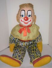 Vintage 1950's  Howdy Doody Ideal Clarabell the Clown  plush original clothes