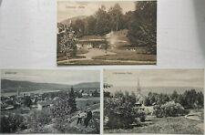 Three vintage un-used postcard´s from Lillehammer in Norway from c. 1910