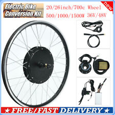 36/48V Electric Bicycle Bike Motor Wheel Conversion Kit LCD Display Modified❤VV