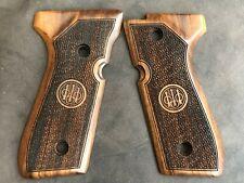 Beretta 92F, 92FS, M9, 96  Turkish Walnut Wood Grips Handmade
