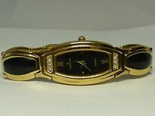 Croton Ladies Designer Style Gold Tone Watch With Crystals - Working