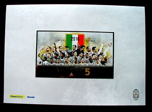 2016 Italy soccer football official folder FDC  stamp JUVENTUS Championship