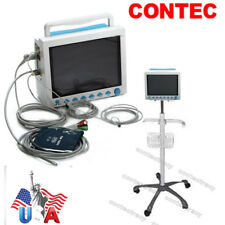 USA Fedex ICU Patient Monitor 6-parameter ECG/NIBP/Spo2/PR/Resp/Temp,mobile cart